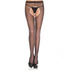 Basic panty Met Open Kruis - Zwart